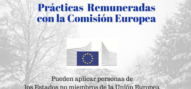 Pasantías y prácticas Remuneradas con la Comisión Europea : 1.300 plazas disponibles