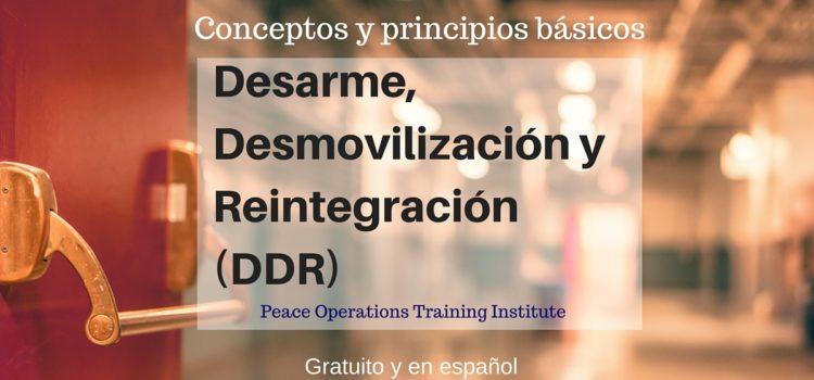 Conceptos y principios básicos de Desarme, Desmovilización y Reintegración (DDR). Gratuito y en español