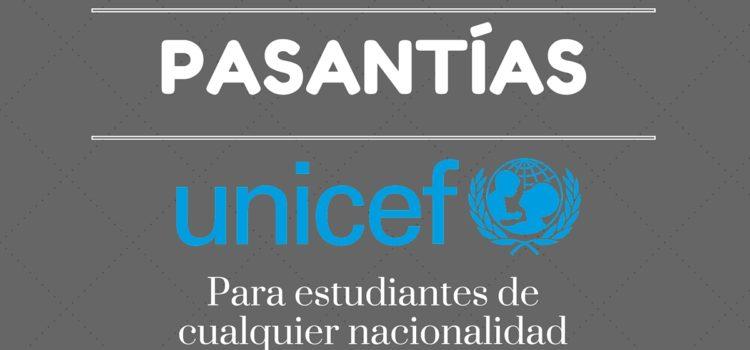 Programa de pasantías internacionales en la UNICEF