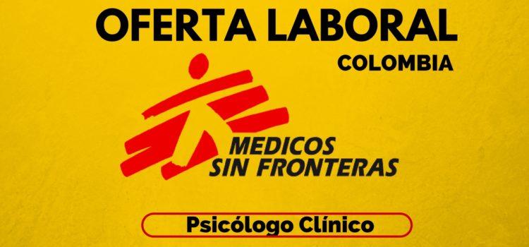 Médicos sin Fronteras abre vacante laboral en Colombia