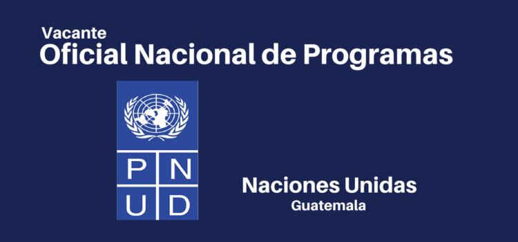 Oficial Nacional de Programas
