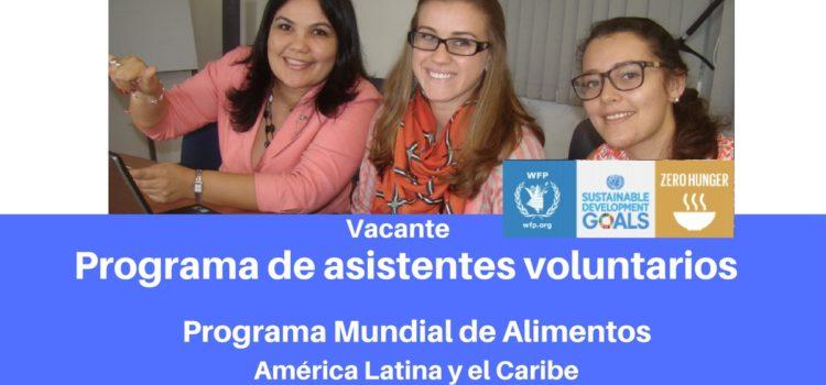Programa de asistentes voluntarios con la oficina regional del PMA