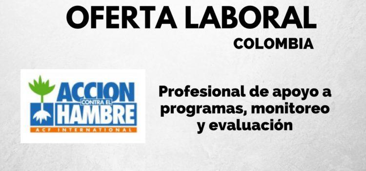Acción contra el Hambre abre convocatoria laboral en Colombia