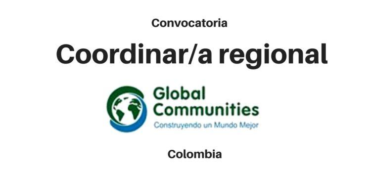 Convocatoria para Coordinador/a regional con ONG Internacional