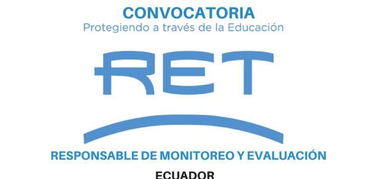 Responsable de Monitoreo y Evaluación en Ecuador