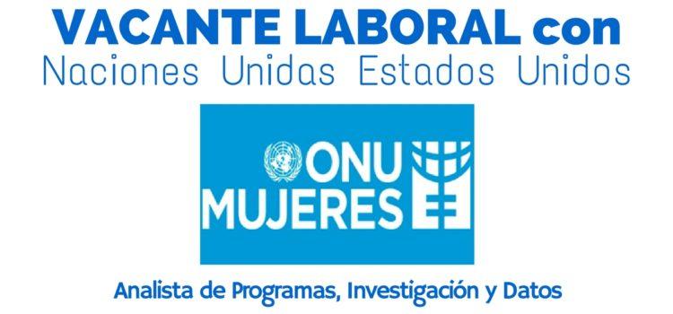 Convocatoria laboral con ONU Mujeres