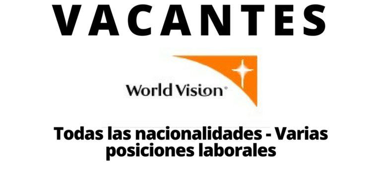 Vacantes con la Organización World Vision