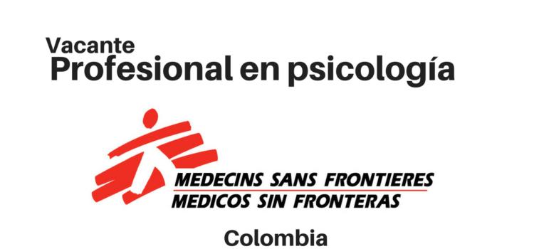 Convocatoria profesional en Psicología con MSF