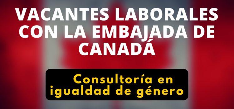 La Embajada de Canadá en Colombia busca profesional para consultoría en igualdad de género
