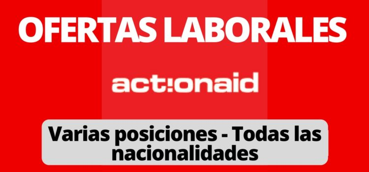 Convocatoria laboral con Actionaid