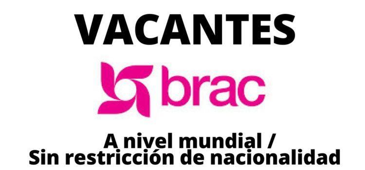 Vacantes a nivel mundial con la ONG Brac