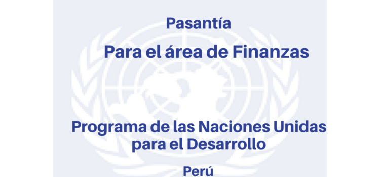 Pasantías en el área de finanzas con PNUD