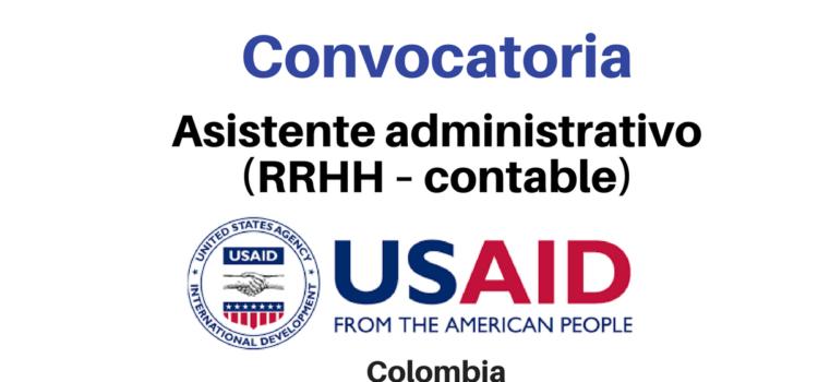 Convocatoria Asistente Administrativo (RRHH – Contable) USAID