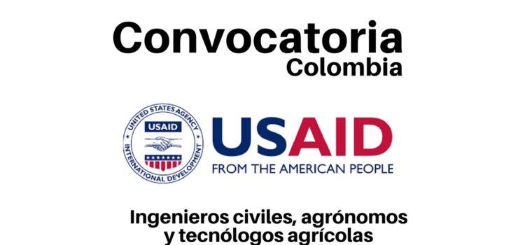 Convocatorias laborales con USAID en Colombia. Diferentes cargos