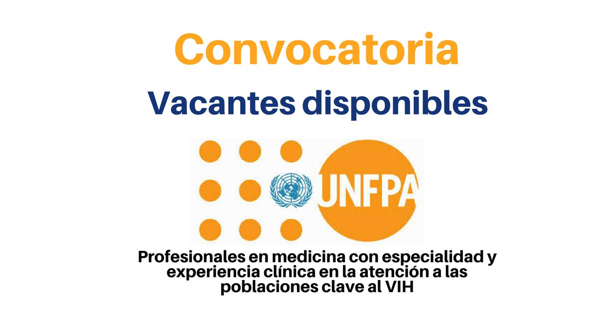 UNFPA busca profesionales con estudios en salud