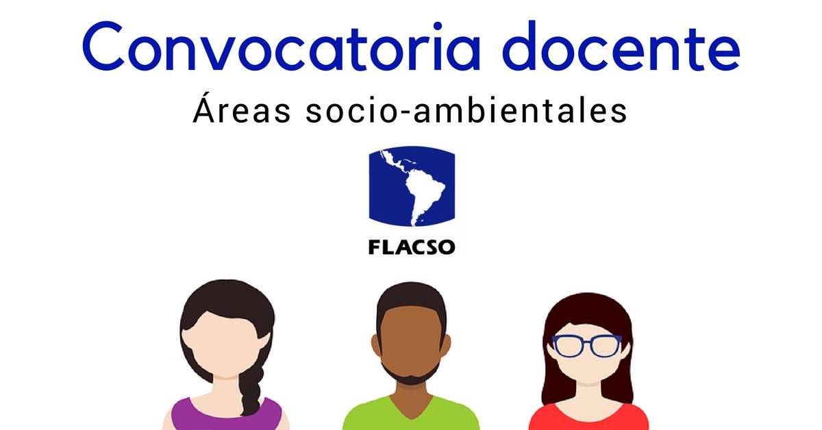 Convocatoria docente FLACSO Ecuador