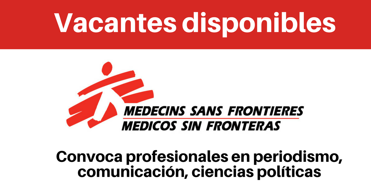 Vacantes con Médicos sin Fronteras