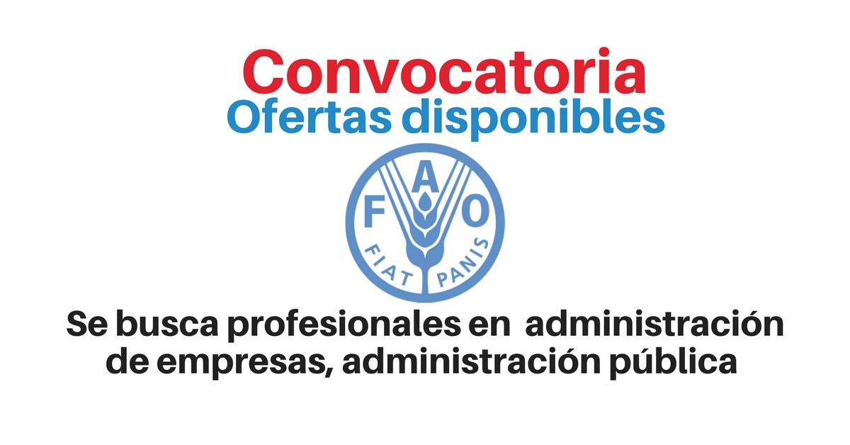 Vacantes laborales con FAO