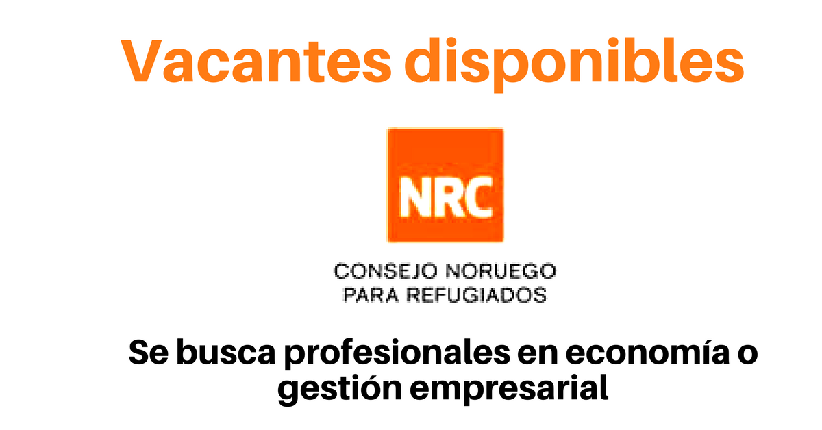 Convocatoria laboral con NRC