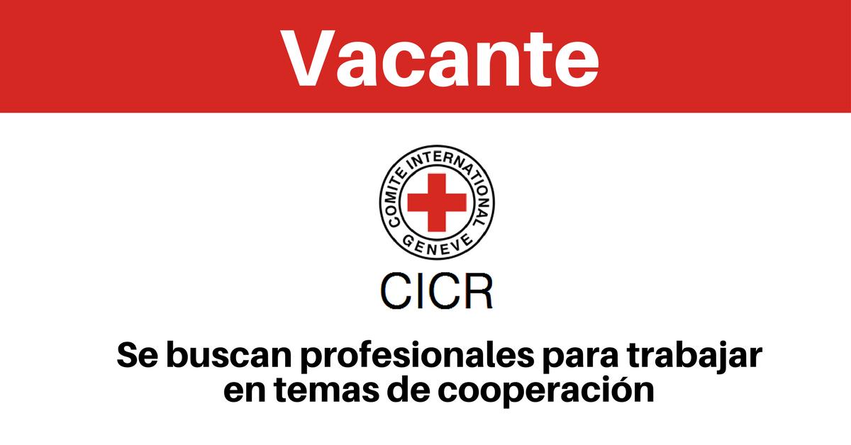 Vacantes CICR en temas de cooperación