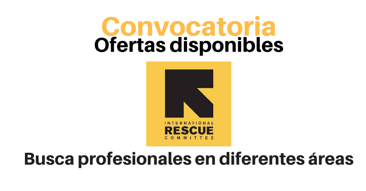 Vacante con International Rescue Committee