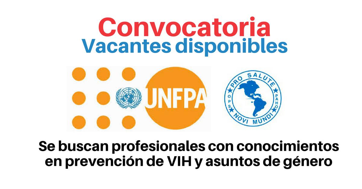 Vacantes con UNFPA y OPS