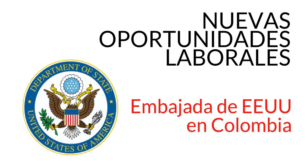 Vacantes Embajada de EEUU en Colombia