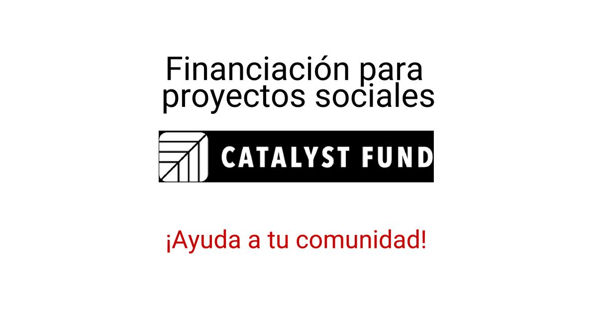 Subvención y financiamiento de proyectos sociales e ideas con impacto