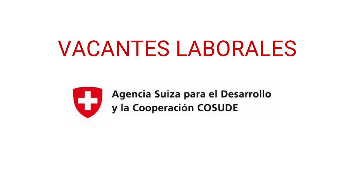 Vacantes disponibles con la cooperación suiza en Colombia
