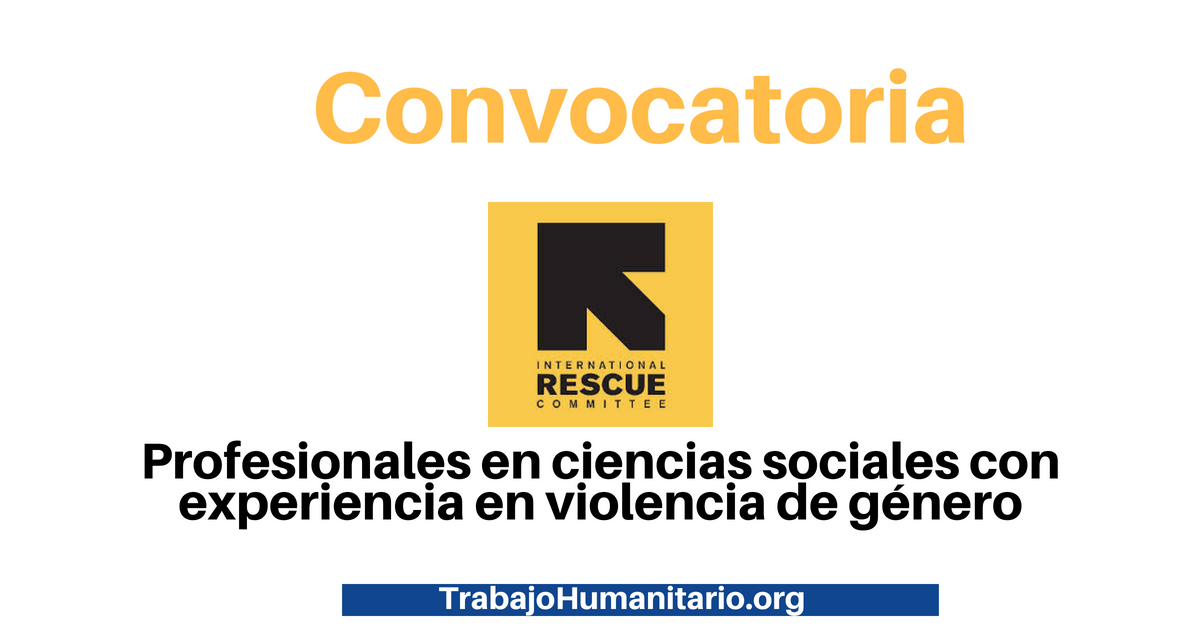 Trabaja con International Rescue Committee