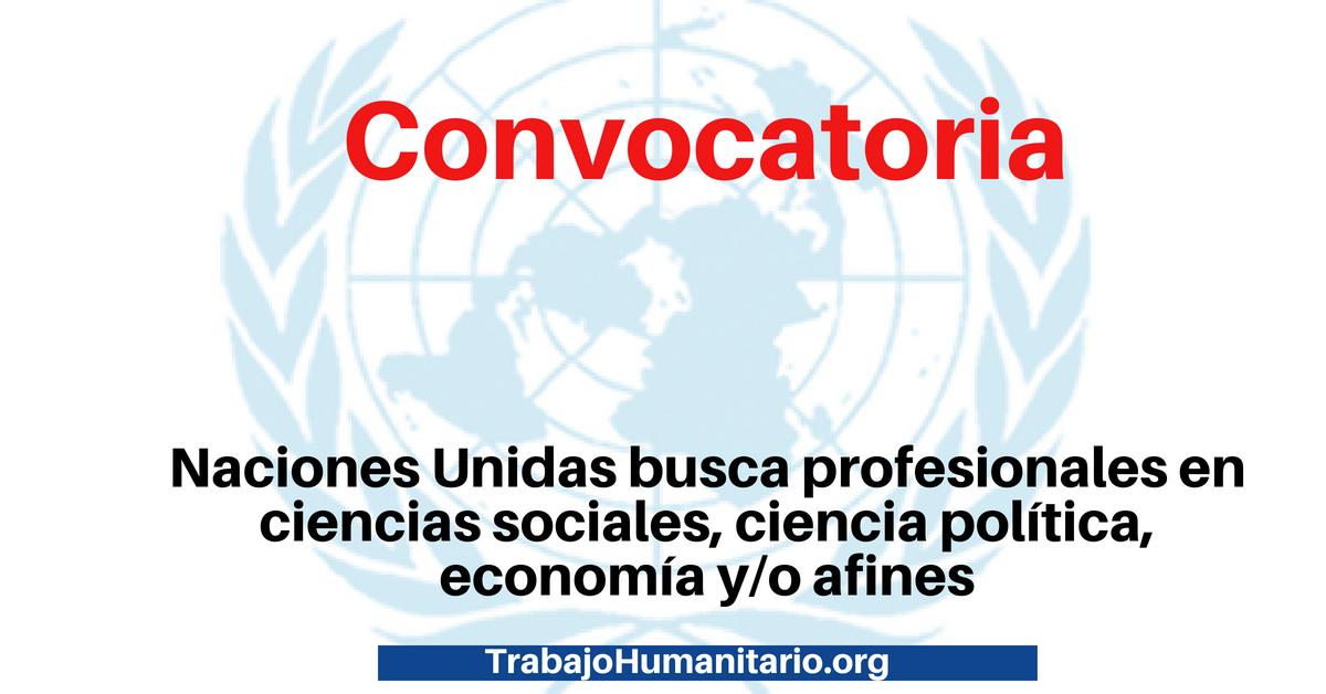 Oportunidades laborales con Naciones Unidas