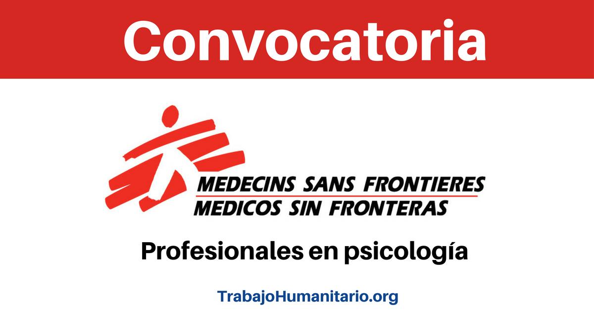 Vincúlate a MSF