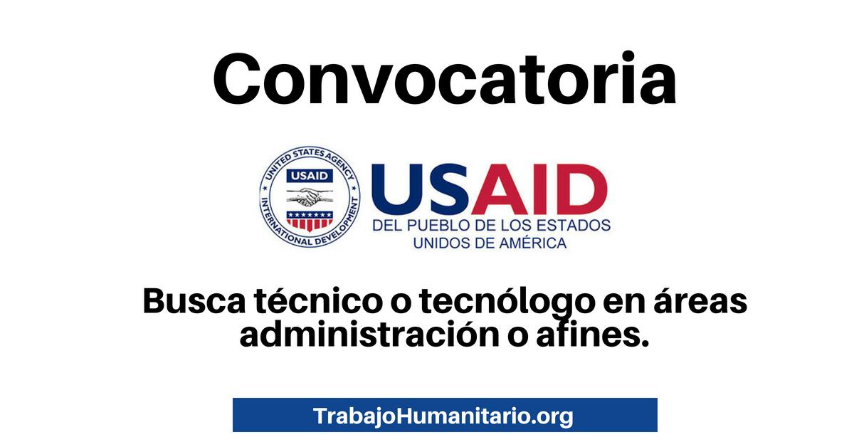 Vacantes disponibles con USAID