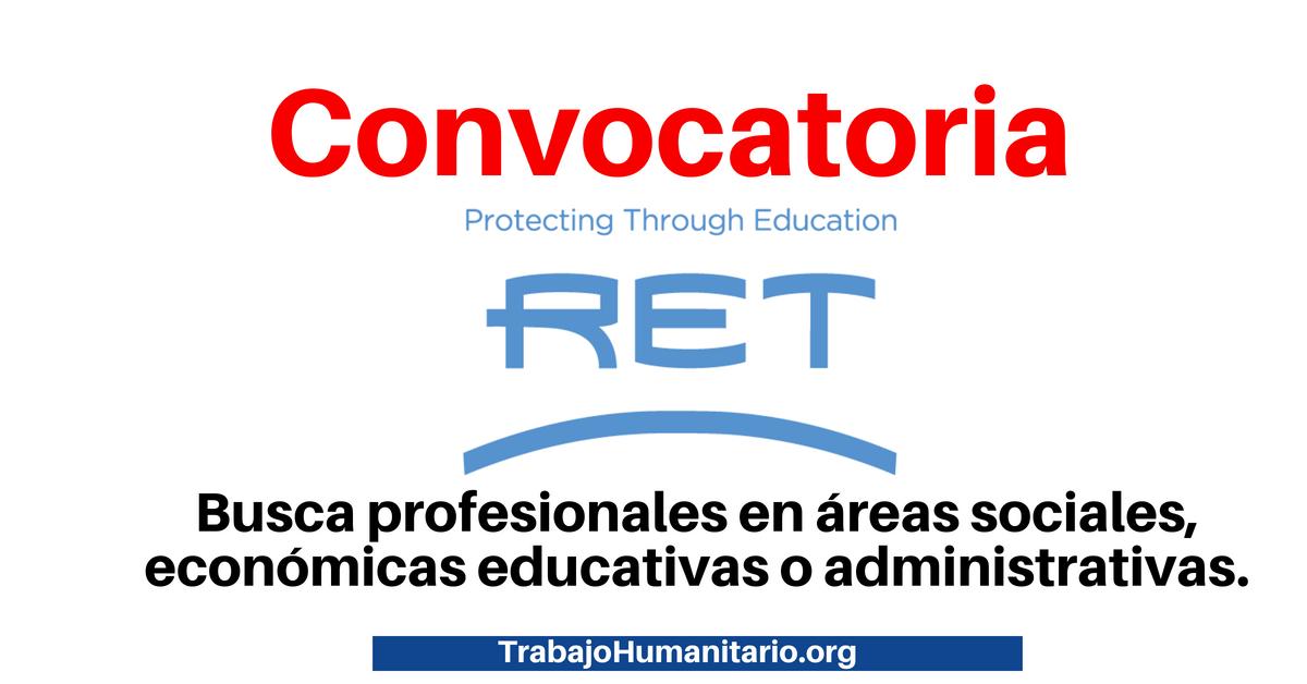 RET busca profesional para dirigir su oficina en Perú