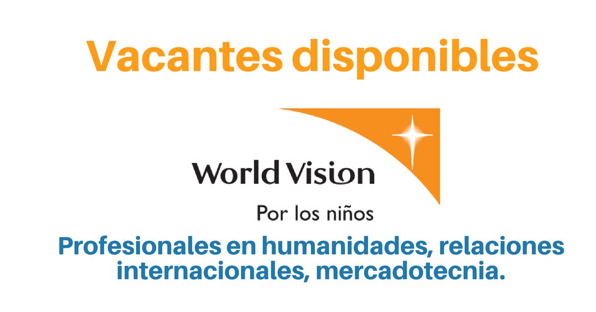 Vacantes con World Vision