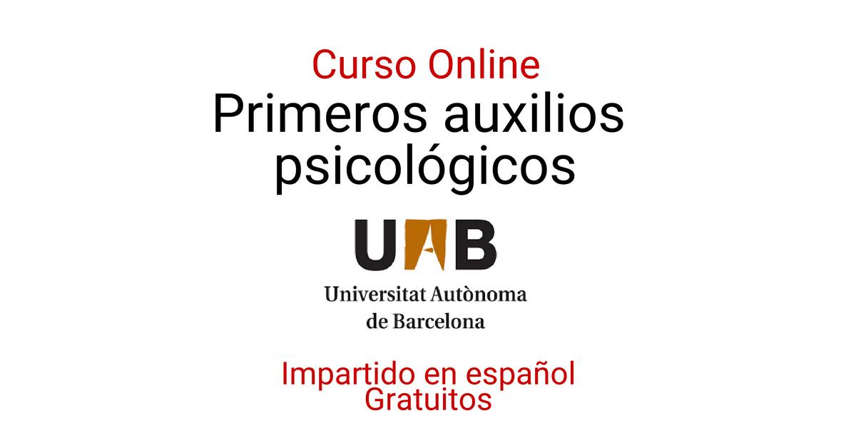 Curso online: Primeros Auxilios Psicológicos
