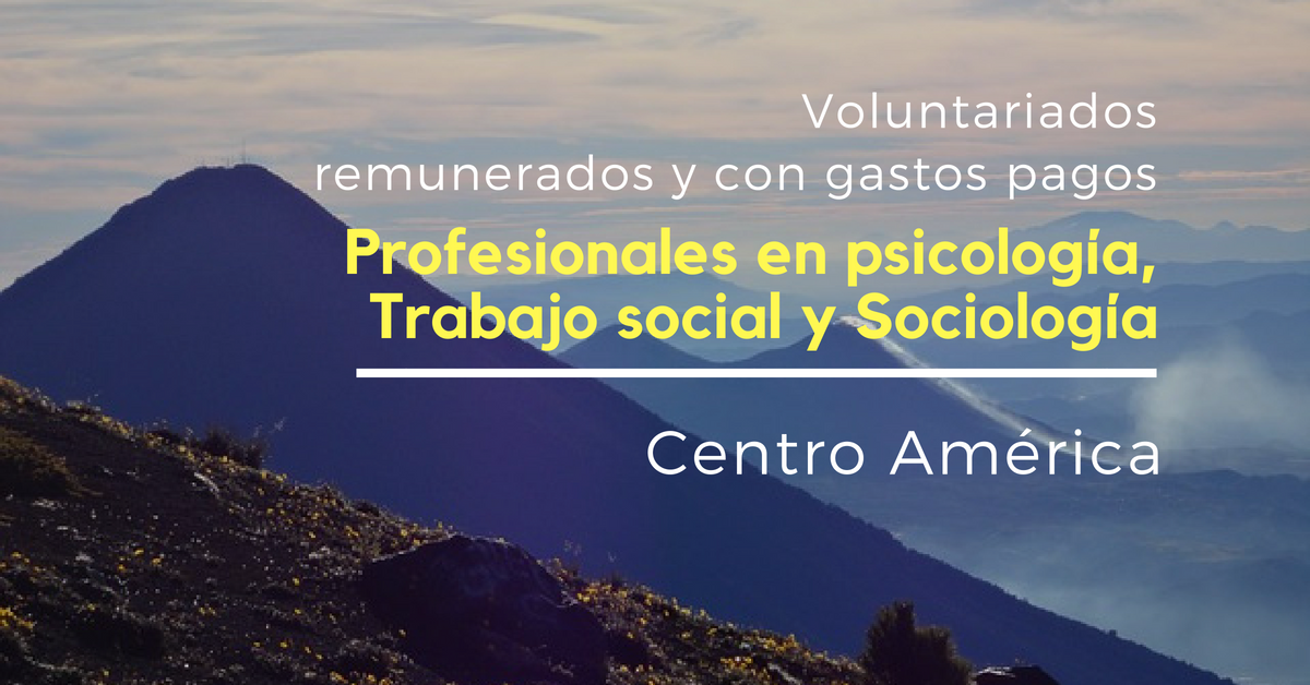 Voluntariado en Centro América remunerados