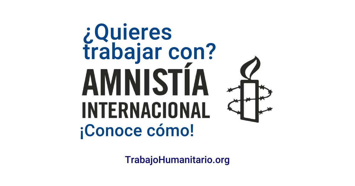 Vacantes disponibles con Amnistía Internacional
