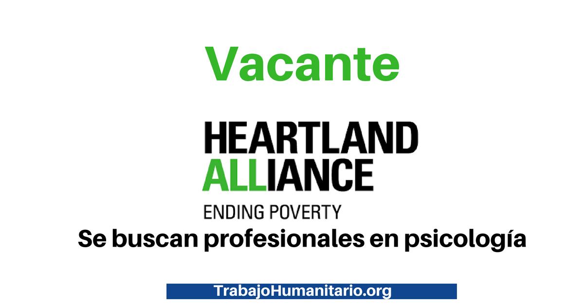 Trabaja con Heartland Alliance International