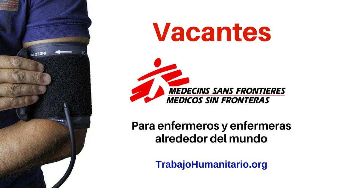 Trabajo para enfermeros y enfermeras – Médicos sin fronteras