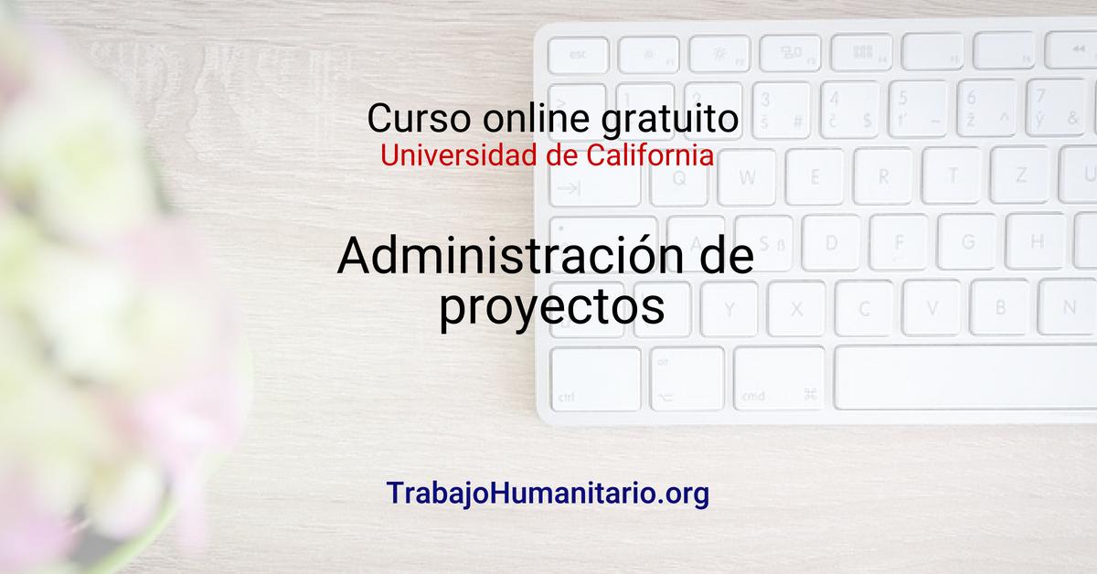 Curso online en administración de proyectos