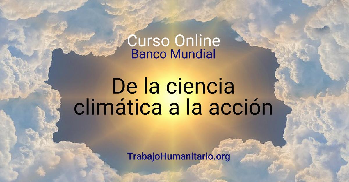 Curso online sobre cambio climático