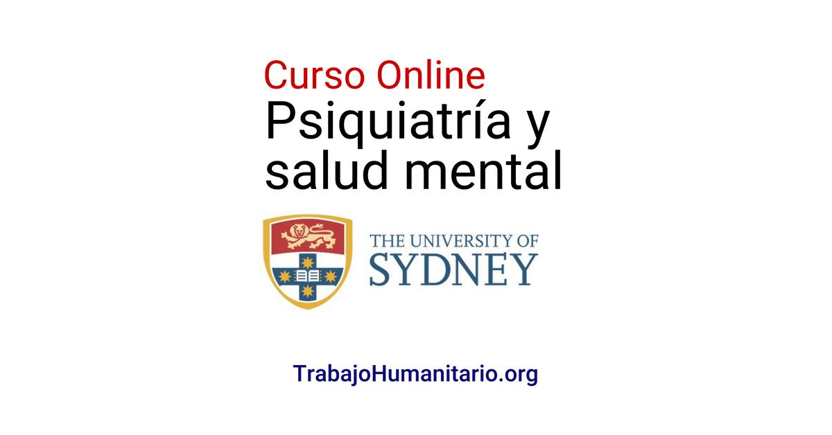 Curso online gratuito sobre psiquiatría y salud mental