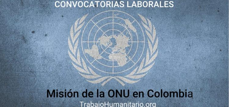 Convocatorias Misión de la ONU en Colombia