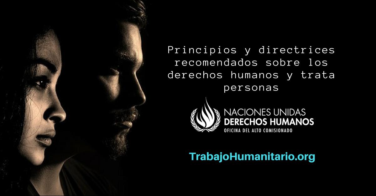 Trata de personas: Principios y directrices