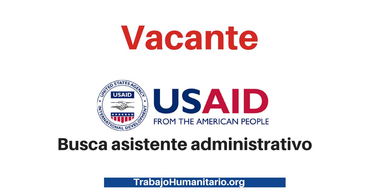 Sí hay trabajo con USAID