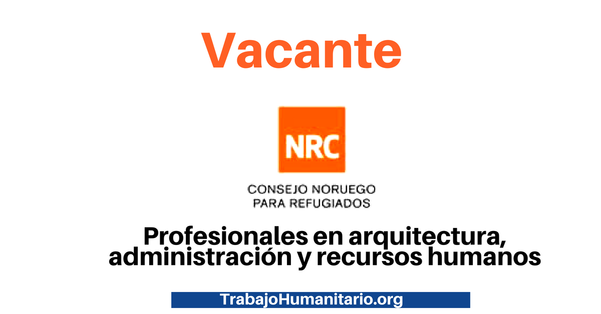 Oportunidad laboral con NRC