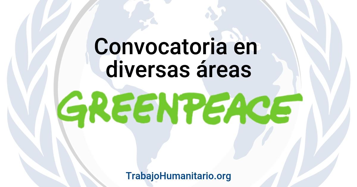 Convocatorias abiertas con Greenpeace