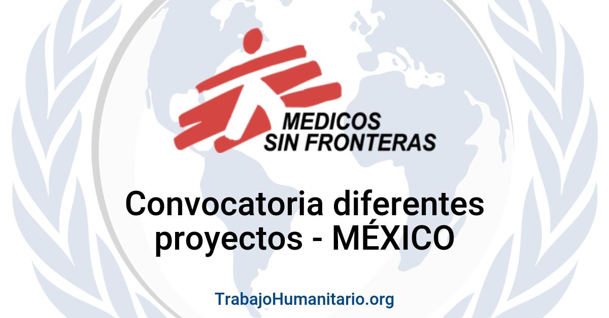 Convocatorias con MSF en México