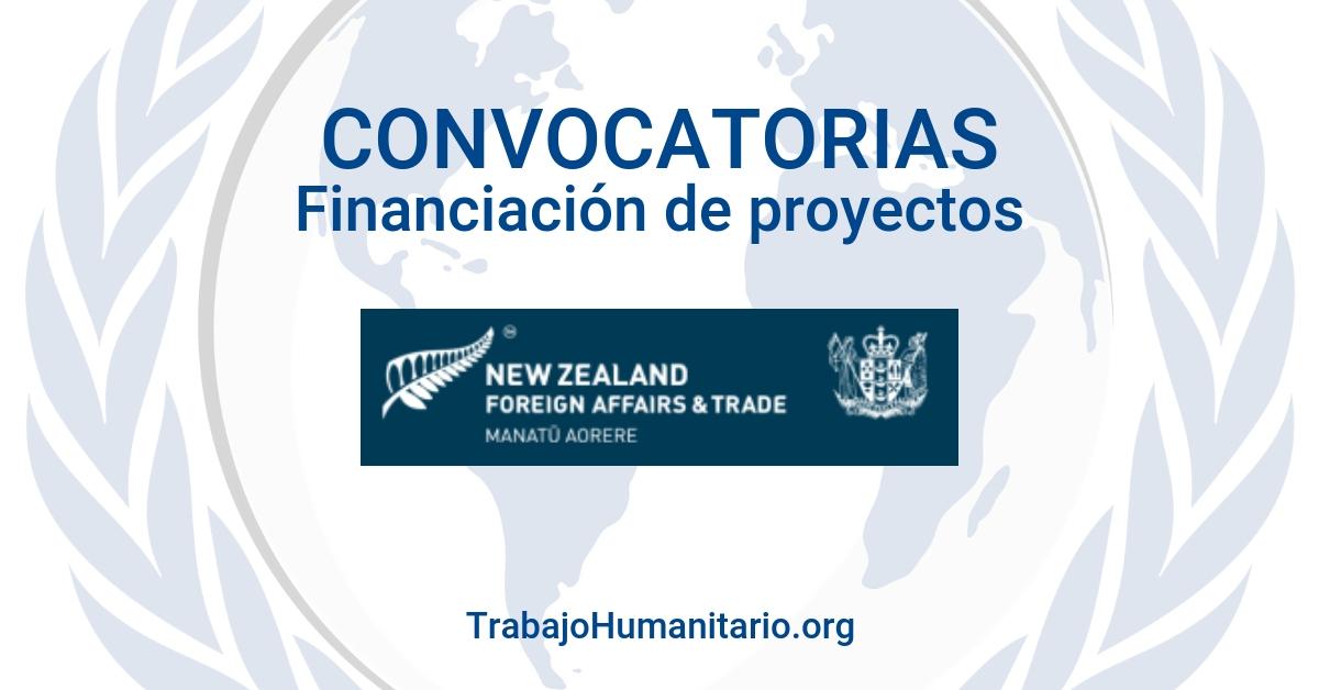 Convocatoria: financiación proyectos desarrollo